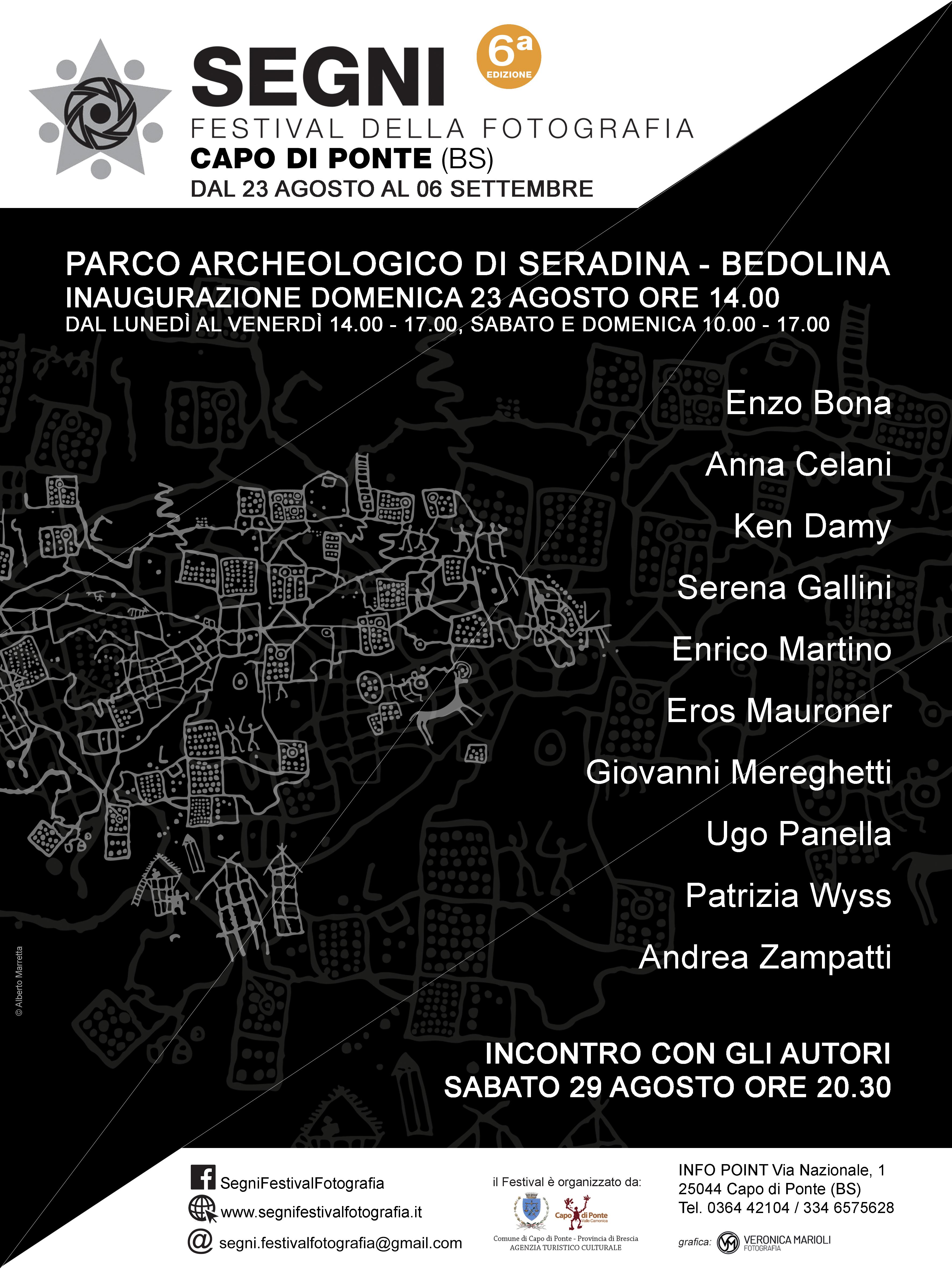 locandina programma segni festival fotografia 2020